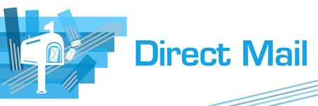 Direct Mail Blue Stroked Stripes