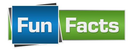 Leuke feiten groen blauw horizontaal Stockfoto