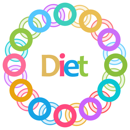 Diet Colorful Rings Circular
