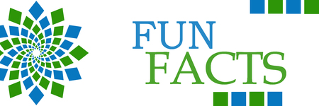 Fun Facts Green Blue Circular Horizontal
