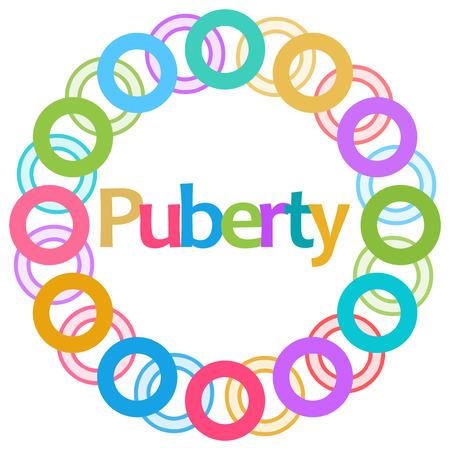 Puberty Colorful Rings Circular Stock Photo