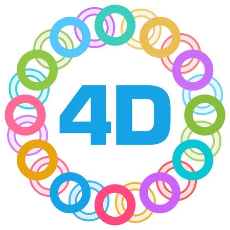 4D Colorful Rings Circular Stock Photo