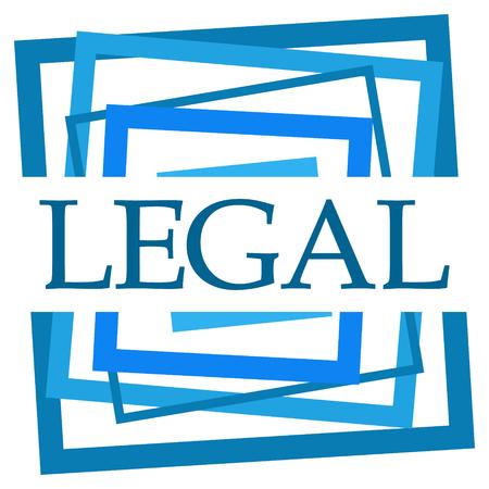 Legal Blue Random Borders