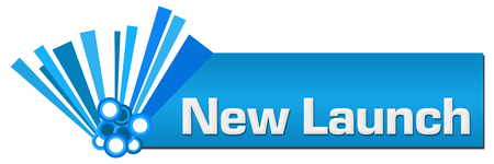 New Launch Blue Graphical Horizontal