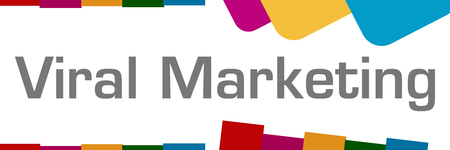 Viral Marketing Colorful Shapes Background Stock Photo