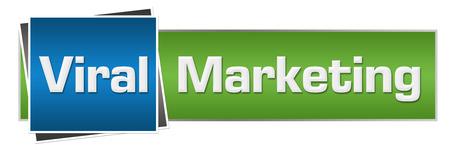 Viral Marketing Green Blue Horizontal Stock Photo