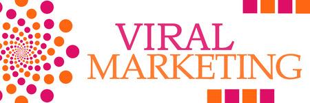 Viral Marketing Pink Orange Dots Horizontal