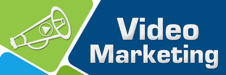Video Marketing Green Blue Rounded Squares