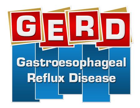 GERD - Gastroesophageal Reflux Disease Red Blue Squares Stripes Zdjęcie Seryjne - 91197616