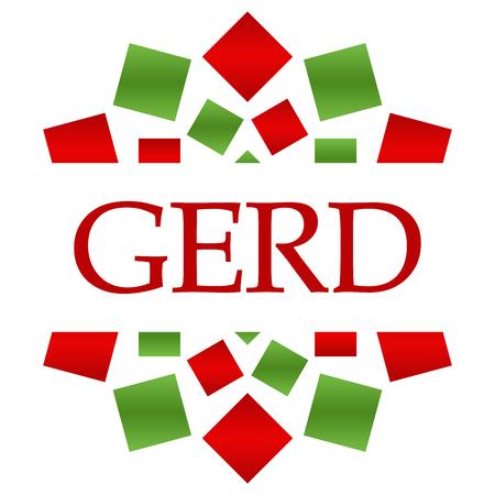 GERD - Gastroesophageal Reflux Disease Red Green Circular Stock Photo