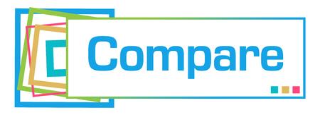 Compare Colorful Squares Bar Stock fotó