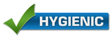 Hygienic Blue Green Tick Mark Horizontal