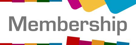 Mitgliedschafts-bunter Form-Hintergrund