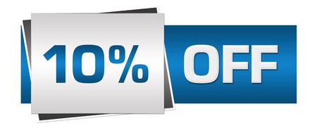 Discount 10 Percent Off Blue Grey Horizontal