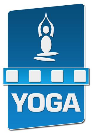 Vertical azul do separador da ioga Foto de archivo - 91815200