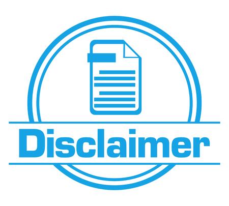 Disclaimer Blue Circular Badge Style Stock Photo