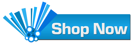 Shop Now Blue Graphical Horizontal