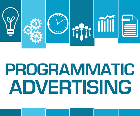 Programmatic Advertising Blue Stripes Symbols