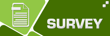 Survey Green Rounded Squares Horizontal