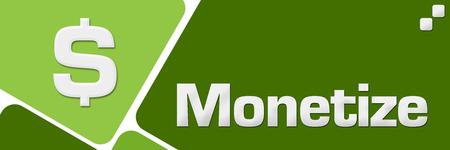 Monetize Green Rounded Squares Horizontal