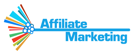 Affiliate Marketing Colorful Graphical Bar Stock Photo