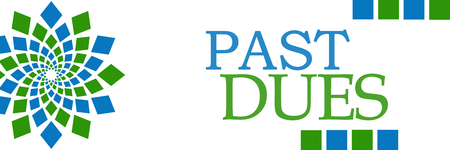 Past Dues Green Blue Circular Horizontal