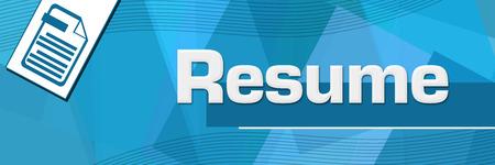 Resume Random Shapes Blue Background