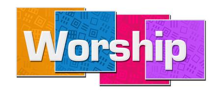 Worship Colorful Texture Blocks