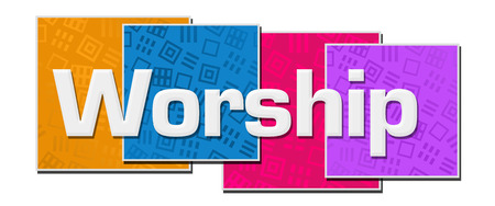 Worship Colorful Texture Blocks
