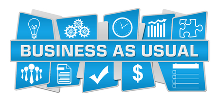 Business As Usual Blue Up Down Symbols 스톡 콘텐츠