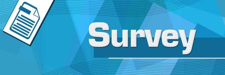 Survey Random Shapes Blue Background 写真素材