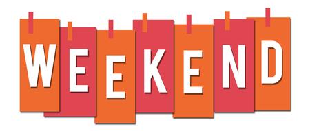 Weekend Pink Orange Stuck Stripes Stock Photo