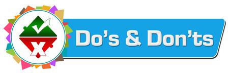 Dos And Donts Random Colorful Circular Bar