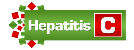 Hepatitis C Green Red Circular Bar Stock Photo