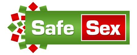 Safe Sex Green Red Circular Bar Stock Photo