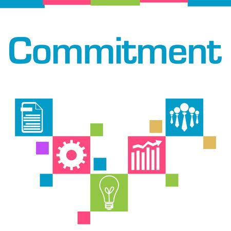 Commitment Colorful Squares Symbols