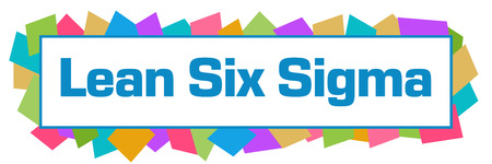 Lean Six Sigma Colorful Random Shapes Horizontal