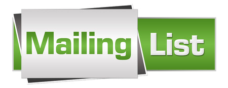 Mailing List Green Grey Horizontal Stock fotó