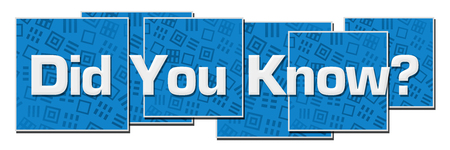 Did You Know Blue Texture Blocks Banque d'images