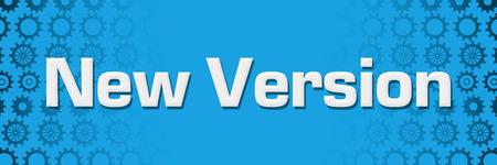 New Version Blue Gears Background Horizontal Фото со стока