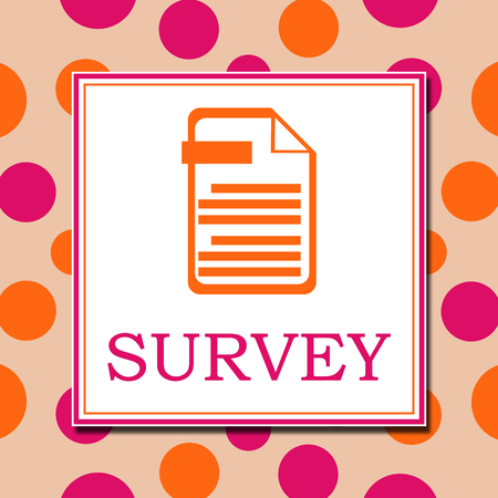 Survey Pink Orange White Square