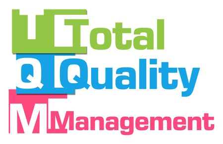 TQM - Total Quality Management Abstract Colorful Stripes