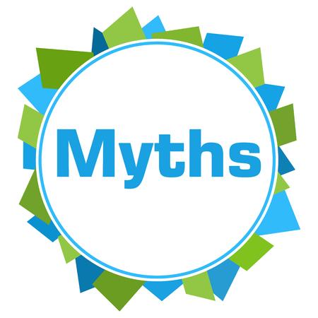 Myths Green Blue Random Shapes Circle