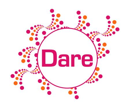Dare Pink Orange Abstract Dots