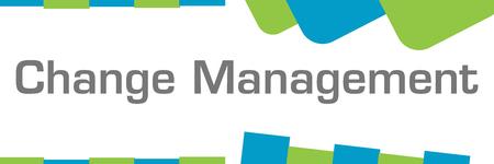 Change Management Green Blue Shapes Horizontal Stock Photo