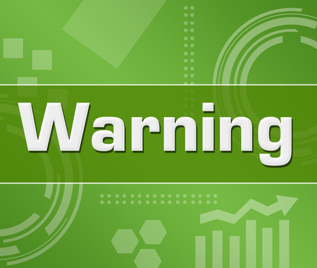 Warning Green Technology Background Square