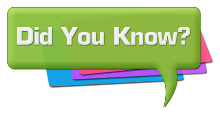 Did You Know Green Colorful Comment Symbol