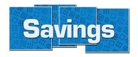 Savings Blue Texture Blocks