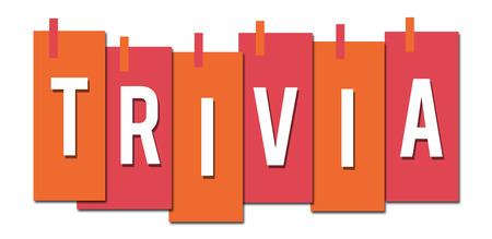 Trivia Pink Orange Stuck Stripes Standard-Bild