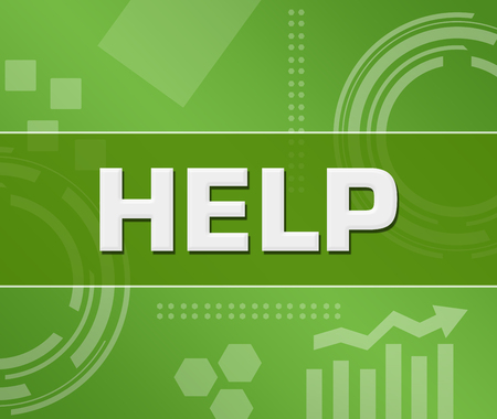 Help Green Technology Background Square